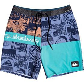 Quiksilver Highline Rave Wave 18 Pantalones cortos Hombre, azul/Turquesa